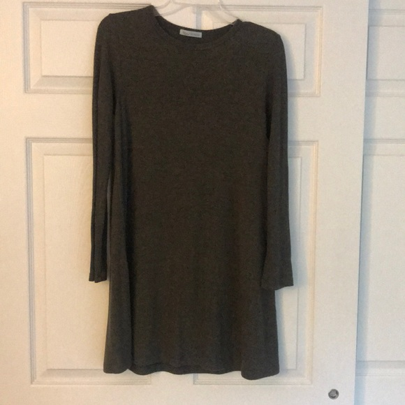 Francesca's Collections Dresses & Skirts - Olive, size small long sleeve dress. SO SOFT